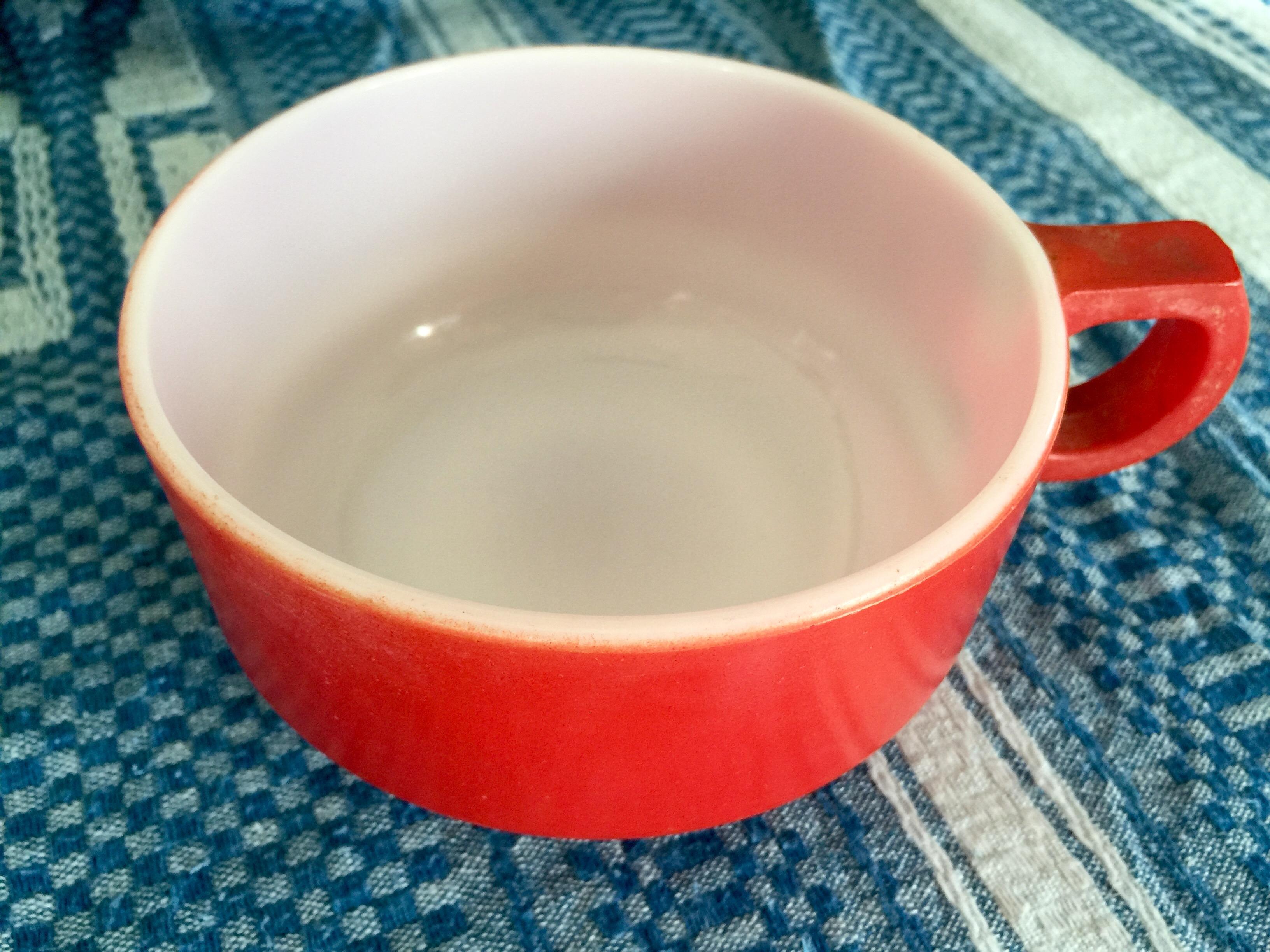 For Sale :: Vintage Red Soup/Latte Mug; $18